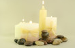 Aromatherapy Candles And Zen Stones Photo
